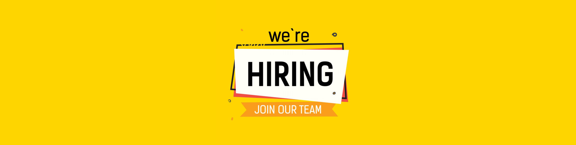 we are hiring text